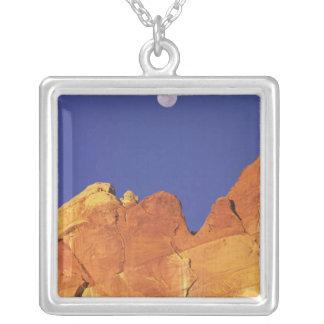 Sandstone escarpment Capitol Reef National Square Pendant Necklace