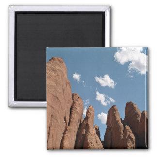 Sandstone Fins 2 Inch Square Magnet