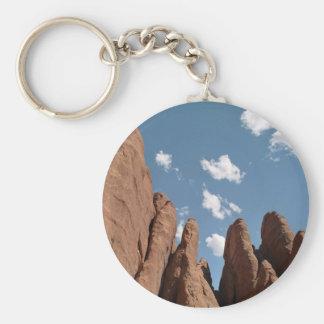 Sandstone Fins Basic Round Button Keychain