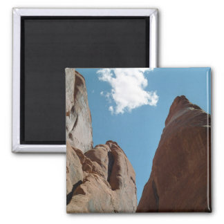 Sandstone Fins Close-Up 2 Inch Square Magnet