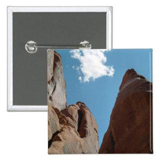 Sandstone Fins Close-Up Pinback Button