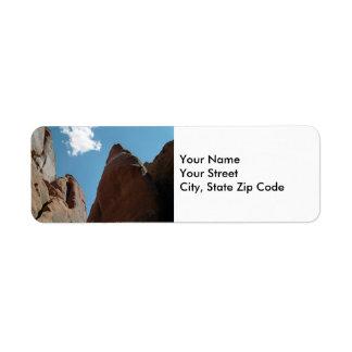 Sandstone Fins Close-Up return address label