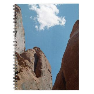 Sandstone Fins Close-Up Spiral Notebook