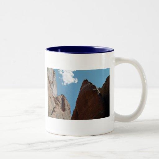 Sandstone Fins Close-Up Two-Tone Coffee Mug