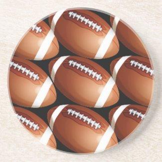 SANDSTONE football COASTERS sport coasters coaster