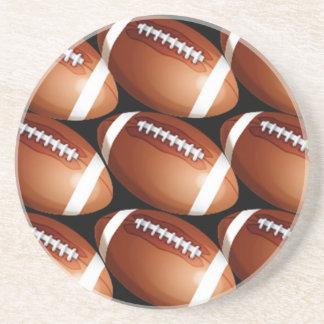 SANDSTONE football COASTERS sport coasters