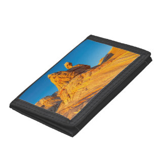 Sandstone Formations At The White Pocket 3 Tri-fold Wallets