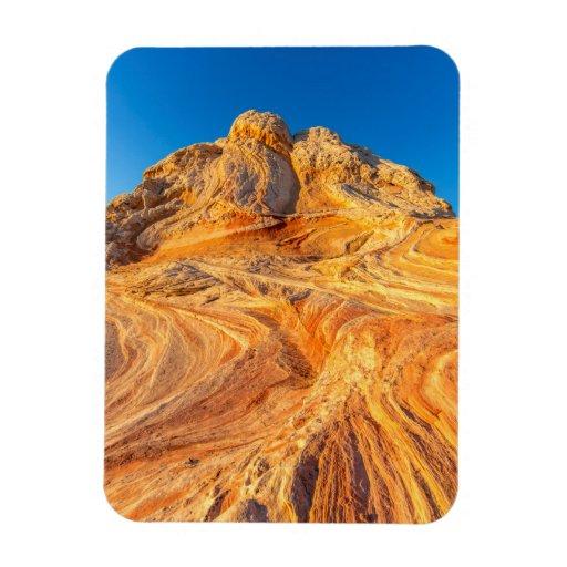 Sandstone Formations At The White Pocket Vinyl Magnet