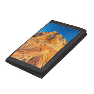 Sandstone Formations At The White Pocket Trifold Wallet