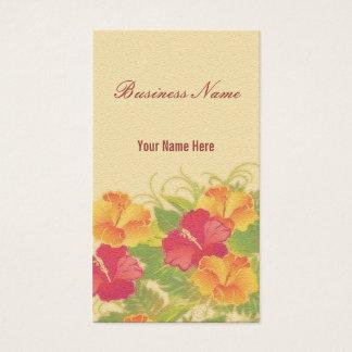 sandstone hibiscus ~ bc business card