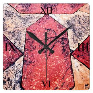 Sandstone & Marble Floor Square Wall Clock