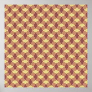 Sandstone/Marsala Pattern Poster