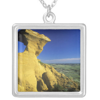 Sandstone Monument in the Hell Creek area near Square Pendant Necklace
