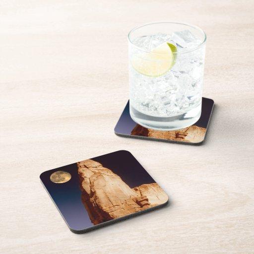 Sandstone pinacle beverage coaster zazzle - Sandstone drink coasters ...