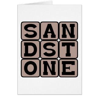 Sandstone, Sedimentary Rock Greeting Cards
