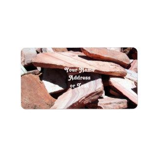 Sandstone Slates Address Label