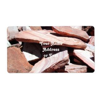 Sandstone Slates Shipping Label