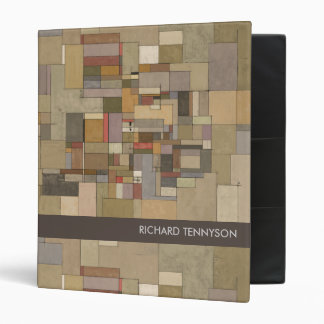 Sandstone Stata Abstract Art Personalized Binder