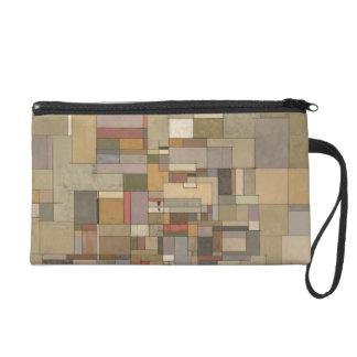 Sandstone Stata Abstract Art Wristlet/Clutch/Bag Wristlet Purse