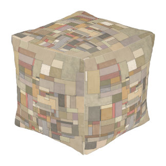 Sandstone Strata Abstract Art Baby Square Pouf