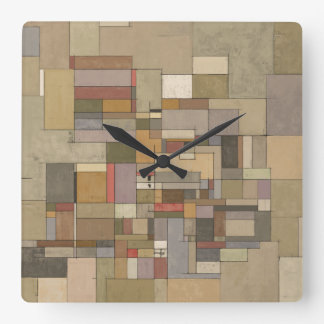 Sandstone Strata Abstract Art Clock