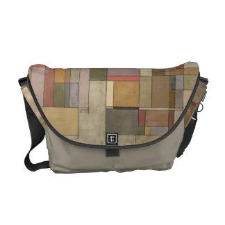 Sandstone Strata Abstract Art Messenger Bag