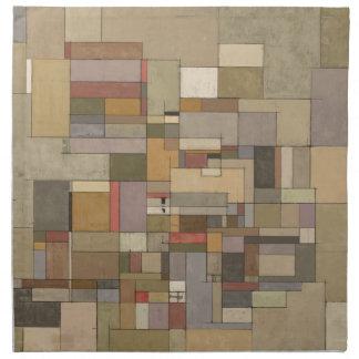 Sandstone Strata Abstract Art Napkin
