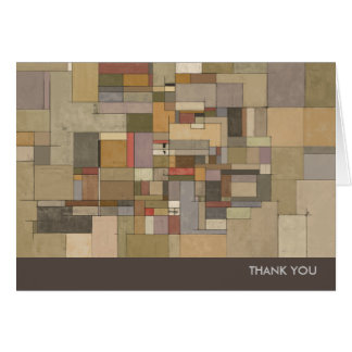 Sandstone Strata Abstract Art Thank You Note Cards