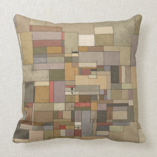 Sandstone Strata Abstract Art Throw Pillow