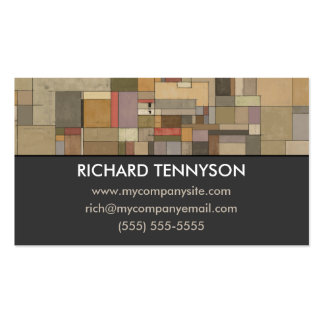 Sandstone Strata Abstract Custom Business Cards