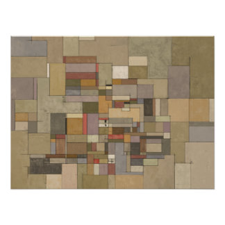 Sandstone Strata Abstract Painting Poster