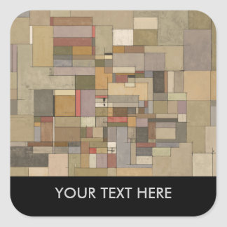 Sandstone Strata Abstract Personalized Stickers