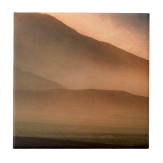 Sandstorm at Mesquite Sand Dunes, Sunset Ceramic Tile