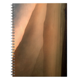 Sandstorm at Mesquite Sand Dunes, Sunset Spiral Notebook