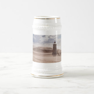 Sandstorm at the lighthouse beer stein