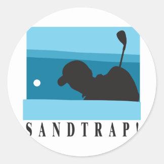 Sandtrap Golf Round Stickers