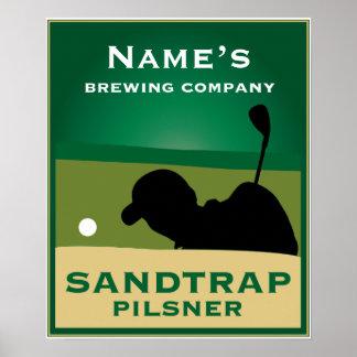 Sandtrap Pilsner Poster
