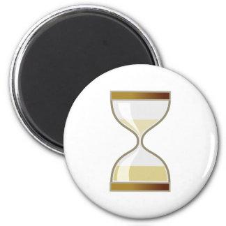 sanduhr egg timer hourglass 2 inch round magnet