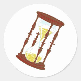 sanduhr egg timer hourglass classic round sticker