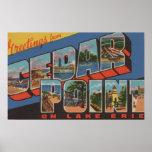 Sandusky, Ohio - el lago Erie - punto del cedro Poster