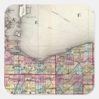 Sandusky, Seneca, y condados de la cumbre Colcomanias Cuadradases