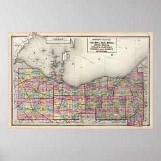 Sandusky, Seneca, y condados de la cumbre Poster