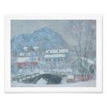 Sandviken Noruega en la nieve Arte Fotografico