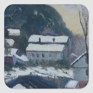 Sandviken, Norway by Claude Monet Square Sticker