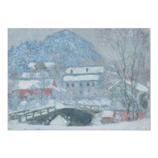 Sandviken Norway in the Snow 5x7 Paper Invitation Card