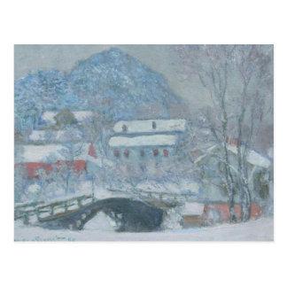 Sandviken Norway in the Snow Postcard