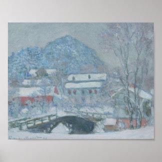Sandviken Norway in the Snow Poster