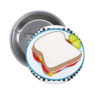 Sandwich 2 Inch Round Button