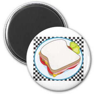 Sandwich 2 Inch Round Magnet