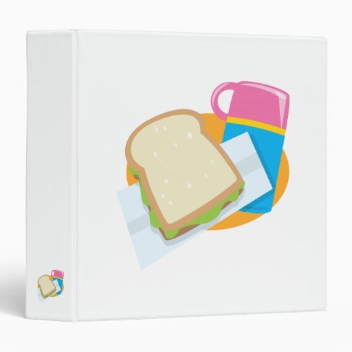 sandwich and thermos lunch vector design binder